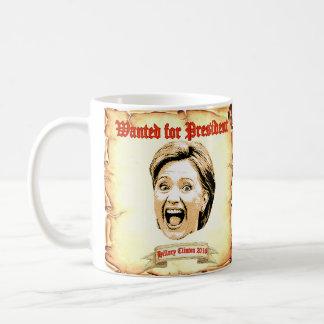 大統領のマグのために望まれるヒラリー・クリントン2016 コーヒーマグカップ
