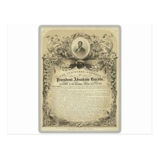 大統領のabeのリンカーンの就任演説 ポストカード