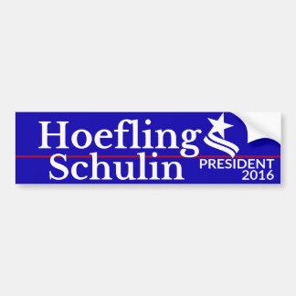 大統領及び副大統領のためのHoefling/Schulin バンパーステッカー