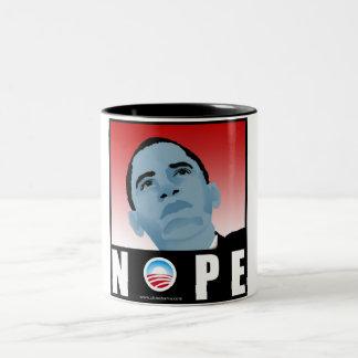 大統領08選挙のスケート板のためのNObama ツートーンマグカップ