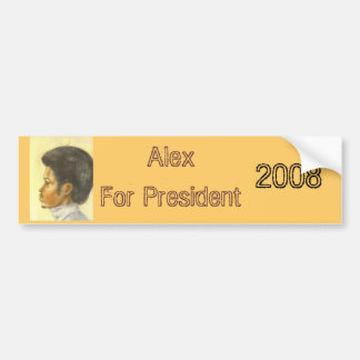 大統領2008年のためのアレックス バンパーステッカー