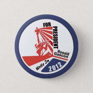 大統領2012年のためにGasconロナルドに書いて下さい 5.7cm 丸型バッジ