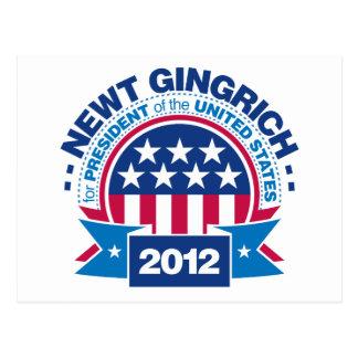大統領2012年のためのニュート・ギングリッチ ポストカード