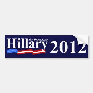 大統領2012年のためのヒラリー バンパーステッカー