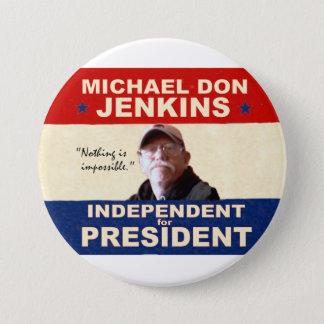 大統領2012年のためのミハエルドンJenkins 7.6cm 丸型バッジ