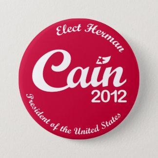 """大統領2012年""""精神""""ボタンRのためのヘルマンカイン 7.6CM 丸型バッジ"""