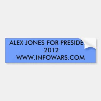 大統領2012WWW.INFOWARS.COMのためのアレックスジョーンズ バンパーステッカー