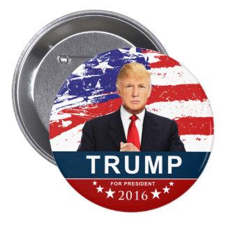 大統領2016のためのドナルド・トランプ3インチ円形のButto 7.6cm 丸型バッジ