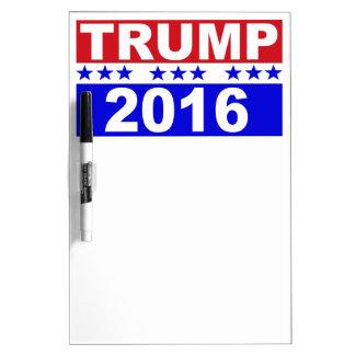大統領2016の赤い白くのためのドナルド・トランプおよび青 ホワイトボード