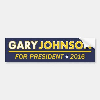 大統領2016バンパーステッカーのためのギャリージョンソン バンパーステッカー