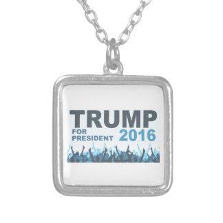 大統領2016ファンのための切札 シルバープレートネックレス