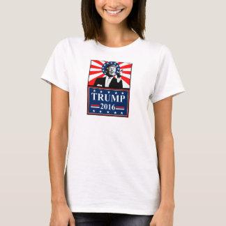 大統領2016レディースのTシャツのためのドナルド・トランプ Tシャツ