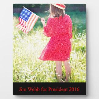 大統領2016年のためのジムWebb フォトプラーク