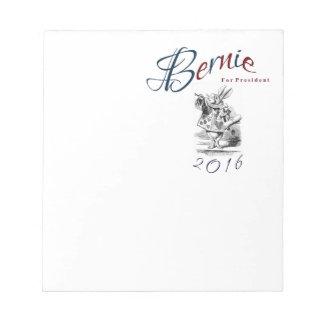 大統領2016年のためのベルニーの研摩機-白いウサギ ノートパッド