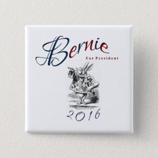 大統領2016年のためのベルニーの研摩機-白いウサギ 5.1CM 正方形バッジ