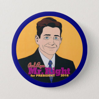 大統領2016年のためのポールライアンの氏Right 7.6cm 丸型バッジ