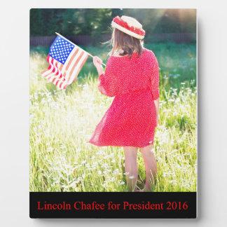 大統領2016年のためのリンカーンChafee フォトプラーク