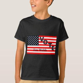大統領2016年のための投票ジムWebb Tシャツ