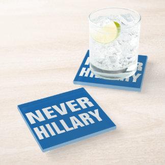 大統領2016年のための決してヒラリー ガラスコースター
