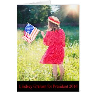 大統領2016年のためのLindseyグラハム カード