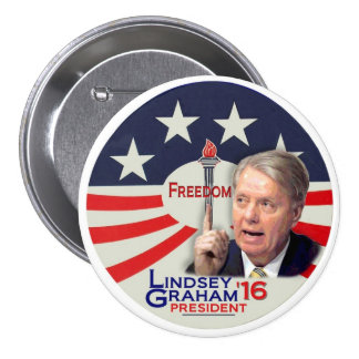 大統領2016年のためのLindseyグラハム 7.6cm 丸型バッジ