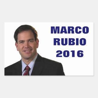 大統領2016年のためのMarcoルビオ 長方形シール