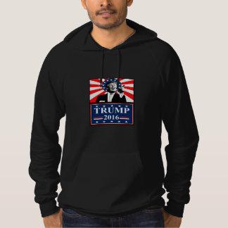 大統領2016年のフード付きスウェットシャツの黒のためのドナルド・トランプ パーカ