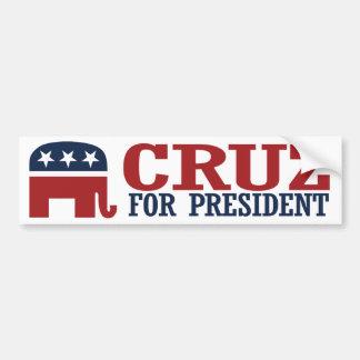 大統領2016年象のバンパーのためのCruz - .pngの バンパーステッカー