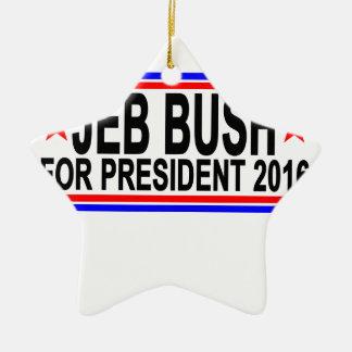 大統領2016 Tシャツ.pngのためのジェブ・ブッシュ セラミックオーナメント