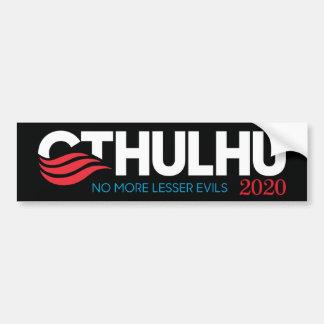 大統領2020のためのCthulhu少し悪 バンパーステッカー