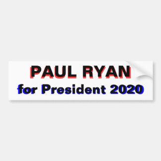 大統領2020の白のためのポールライアン バンパーステッカー