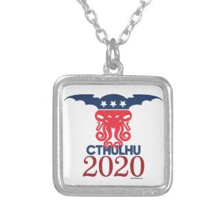 大統領2020年のためのCthulhu シルバープレートネックレス