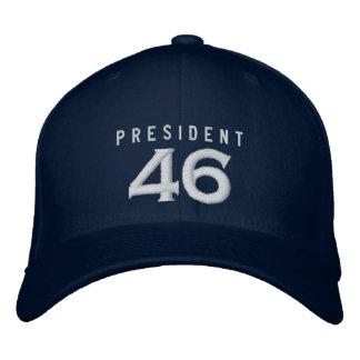 大統領46帽子-海軍 刺繍入りキャップ