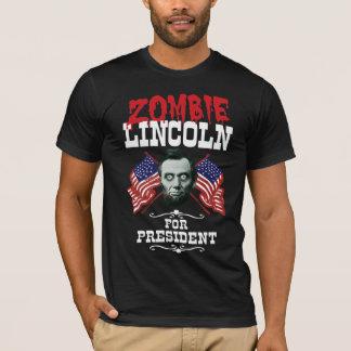 大統領-おもしろいな選挙のためのゾンビリンカーン Tシャツ