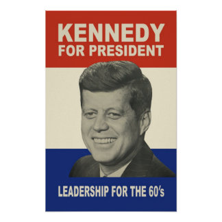大統領!)のためのPoster (39までx 60 1960年のケネディ ポスター