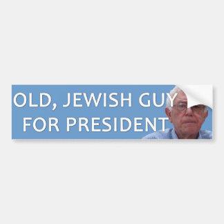大統領-古いユダヤ人の人のためのベルニーの研摩機 バンパーステッカー