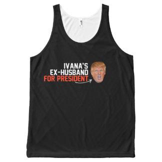 大統領- .pngのためのIvanaの先夫 オールオーバープリントタンクトップ