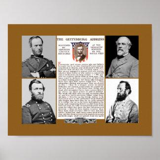 大統領Day Tribute Gettysburgの住所ポスター ポスター