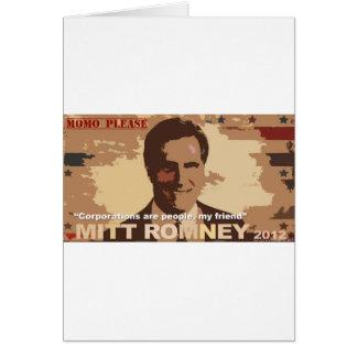 大統領NOTのためのミット・ロムニー! カード