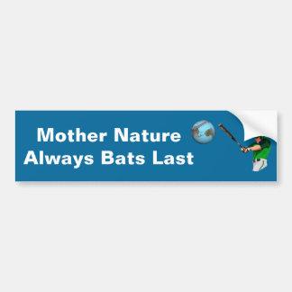 大自然のこうもりは常に持続します バンパーステッカー