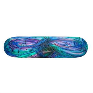 大自然の妖精の木の水彩画の絵画 18.7CM ミニスケートボードデッキ
