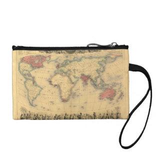 大英帝国の1850年代の地図世界中で コインパース