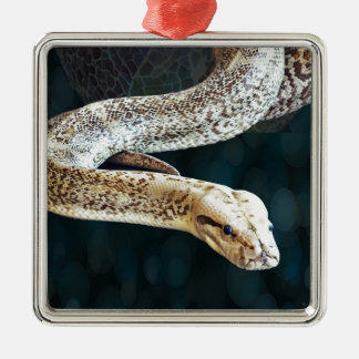 大蛇のヘビ メタルオーナメント