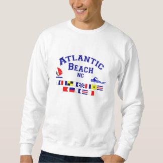 大西洋のビーチNCのシグナルフラグ スウェットシャツ