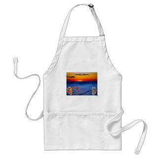 大西洋の大きいビーチの大きいおもしろい上のテキーラの日の出 スタンダードエプロン