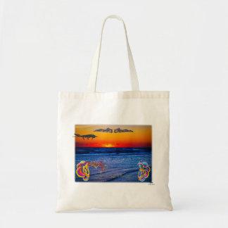 大西洋の大きいビーチの大きいおもしろい上のテキーラの日の出 トートバッグ