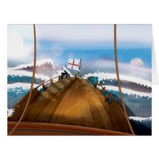 大西洋の嵐の船 ビッググリーティーングカード