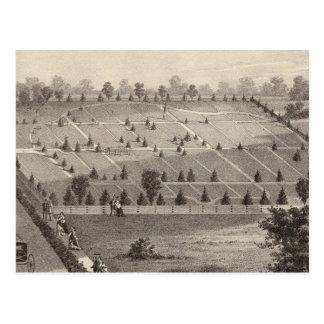 大西洋の眺めの墓地、Squanの村、NJ ポストカード