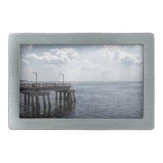 大西洋上の海桟橋 長方形ベルトバックル