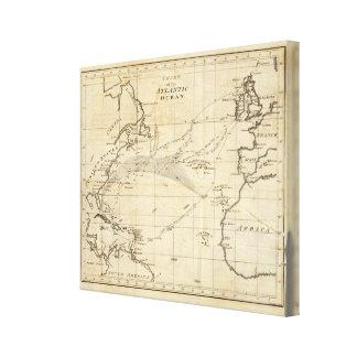 大西洋2の図表 キャンバスプリント